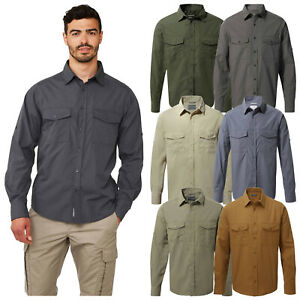 Craghoppers Mens Kiwi Long Sleeved Walking Shirt Quick Dry Sun Protection Top