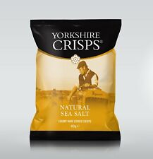 Yorkshire Natural Sea Salt Crisps 24 x 40g - OCT 2021 DATED - FREE P&P