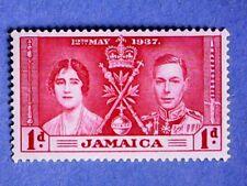 Jamaica. KGVI 1937 1d Coronation. SG118. Wmk Mult Script CA. P14. MNH
