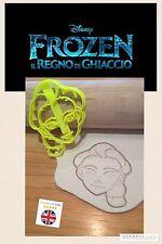 Plástico de Elsa Congelada Bizcocho Masita Cortador Fondant Pastel Decoración Molde