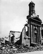 New 8x10 World War II Photo: Wrecked Building after Night Raid in London, 1941