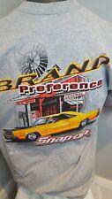 SNAP ON BRAND GRAY SHORT SLEEVE T SHIRT MENS XL Muscle car garage