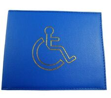 Leather Disabled Badge Holder Wallet Parking
