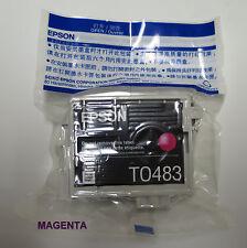 Genuine Epson T0483 Sealed  InkJet Cartridge  MAGENTA