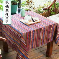 Stripe Tribal Ethnic Cotton Fabric for Upholstery Curtain Table Cloth Trim Craft