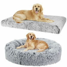 Pet Dog Cat Calming Mat Comfy Warm Fluffy Bed Donut Pillow Cushion Plush S-XXXL