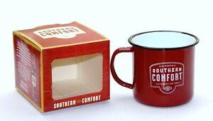 SOUTHERN COMFORT WHISKY WHISKEY TEA COFFEE TIN METAL CAMPING MUG CUP BOXED
