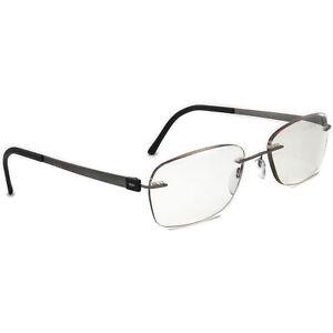 Silhouette Eyeglasses 5452 10 6050 Titan Gunmetal Rimless Austria 53[]19 135