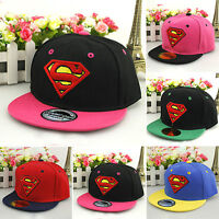 Toddler Girls Boy Superman Hip-hop Sun Hat Kids Baseball Cap Adjustable Snapback