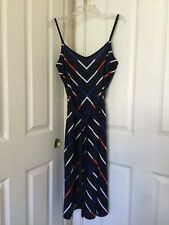 Womens Tommy Hilfiger Chevron Belted Midi Dress Sz XL