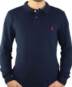 Polo Ralph Lauren Slim Fit Blu 100% ORIGINALE