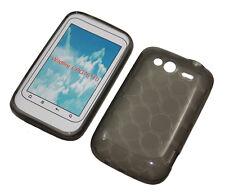Silikon Case für HTC Wildfire S transparent schwarz Tasche Etui Silicon Skin Bag