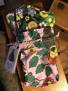 New W/tags Baggu Std Reusable Bags - Set of 3 In 3 Garden Pets Prints & Pouch