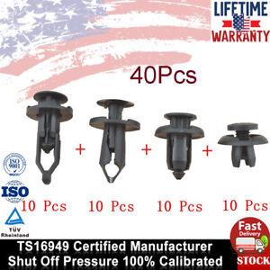 40 Pcs Universal Car Push Retainer Pin Body Bumper Rivet Trim Moulding Clip Kit