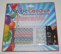 Set x10 Bougies Magique Anniversaire Magic Candles 6 cm NEUF