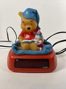 Disney Winnie The Pooh and Piglet  Digital Alarm Clock / Night Light Vintage A2