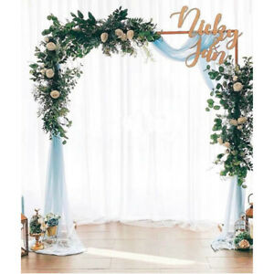 UK 6.6FT Wedding Arch Door Background Wrought Iron Flower Rack Decorative Props
