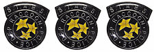 Resident Evil S.T.A.R.S. Raccoon Police Black Logo Metal Enamel Pin Set of 3