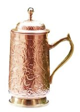 100% Copper 2 Lt Mughal Jug Ayurveda Copper Water Pitcher jug For Drinking Water