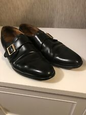 King Hand Crafted Mens Monk Strap Shoes Size 10