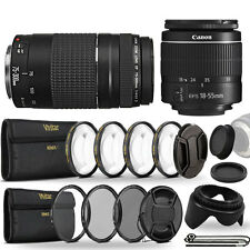 Canon EF-S 18-55mm III Lens + EF 75-300mm Lens Kit for Canon 1200D 1300D 70D 80D