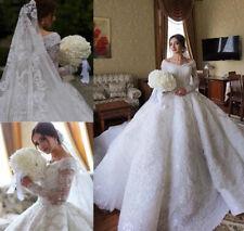 Prinzessin Luxus Spitze Brautkleider aus der Schulter Kirche formale Brautkleid