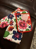 "Kate Spade New York ""FESTIVE FLORAL"" 3 Piece Set Kitchen Tea Dish Towel New"