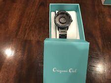 Origami Owl Locket Watch (new) Black Signature Living Locket w/Swar Crys LK5005