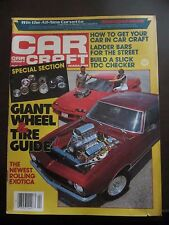 Car Craft Magazine April 1983 Giant Wheel and Tire Guide No Label (PP)