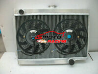 3 ROW Aluminum Radiator + FANS For HOLDEN EJ/EH 179 2.9L L6 1962-1965 1963 64 MT