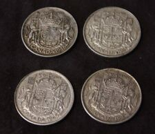 Canada 50 Cents 1943 1945 1946 1949 Very nice lot of 4 x 50 cents