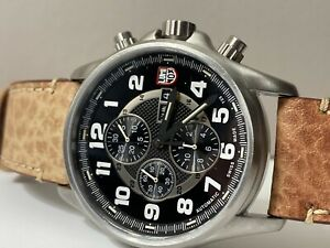Luminox Valjoux Field Chrono Automatic 1860 Series Silver Watch New (others)