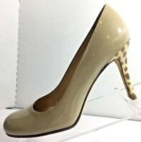 kate spade New York Women's Patent Leather Leopard Print Heels Shoe Size 6.5B