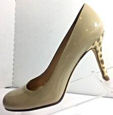 kate spade New York Women's Camel Patent Leather Leopard Print Heels Size 6.5B