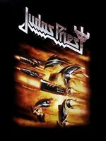 JUDAS PRIEST cd lgo FIREPOWER Official Black SHIRT New Sizes L,XL,2XL