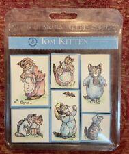 Vintage Beatrix Potter All Night Media Rubber Stamps Tom Kitten Rare Stamp Set