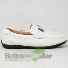 Stacy Adams SA25185-100 Cyprus Moc Toe Bit Slip-On Loafers White (8 M)