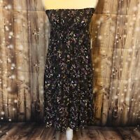 Susina Nordstrom Gray Strapless/tube Top Dress With Flowers Size M. NWT