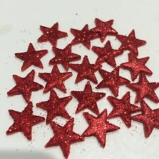 Edible Suger Stars Cake,Cup Cake Toppers x Red Glitter 30