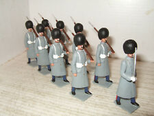 Rare Britains Code 3 X9 Scots Guards Marching at Slope in Greatcoats inc officer