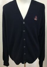 Mens IZOD Long Sleeve size XL cardigan Vest long sleeve Sweater knitted USA blue