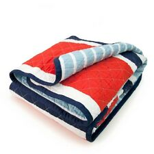 Clearance Sale CoCaLo Mix&Match Single King Single Bed Coverlet Cotton Red  Blue