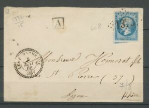 1866 Lettre CàD Les Echarmeaux T.22 GC.1373 RHÔNE(68) Indice 10 X2411