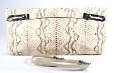Due Fratelli Taupe Snake Clutch Handbag Shoulder Handheld Purse