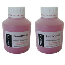 More details for two magenta genuine refill kit for brother laser printers toner powder refill