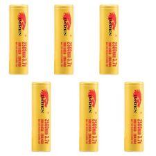 6 Pack Gold IMREN IMR 18650 High Drain Battery 3.7v 2500mAh 20/40 Amp Authentic