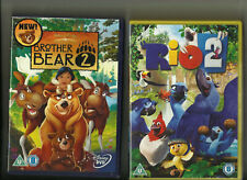 BROTHER BEAR: 2 (2006) & RIO: 2 (2014) TWO ANIMATED CHILDRENS DVDS