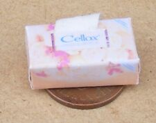 1:12 Scale Open Orange Cellox Tissue Box Tumdee Dolls House Bathroom Accessory