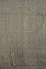 VINTAGE silver snake chain lariat necklace
