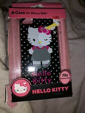 Opened Box But New Black with Stars HELLO KITTY iPhone 4 / 4s Case Sanrio Co